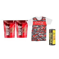 2X MASS UP + BCAA ENERGY + T-SHIRT - 2x5000g+250ml+1szt