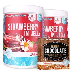 2x Strawberry in jelly + Protein Chocolate - 2x1000g+90g