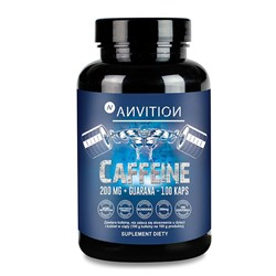 Anvition - Caffeine 200 mg + Guarana - 100kaps