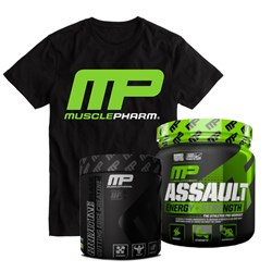 Assault Energy+Strength + Creatine Black + T-shirt - 333-345g+202g+1szt
