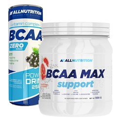 BCAA Max Support + BCAA Power Drink - 500g+250ml