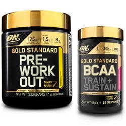 BCAA Train+Sustain 266g + Gold Pre Workout 330g
