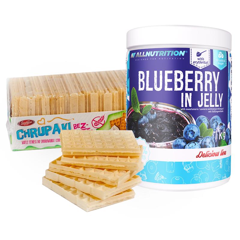 ALLNUTRITION Blueberry in Jelly + Chrupaki Bezglutenowe