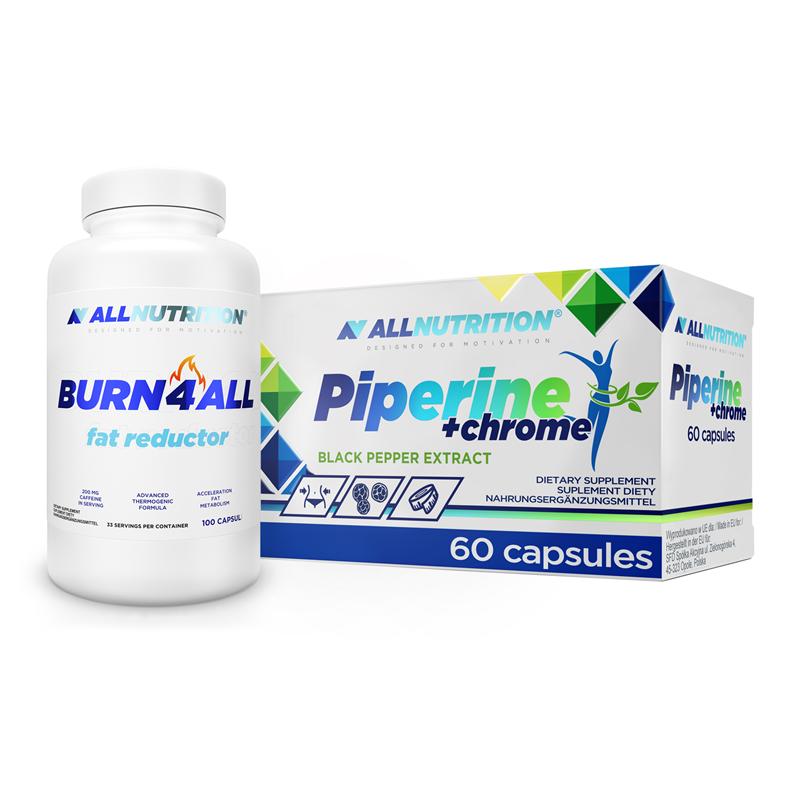 ALLNUTRITION Burn4All 100caps + Piperine+Chrom 60caps