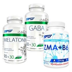 Gaba 90tab + Melatonin 120tab + ZMA+B6 180tab