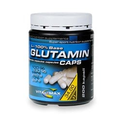 Glutamin L-100% Base caps - 200 kap.