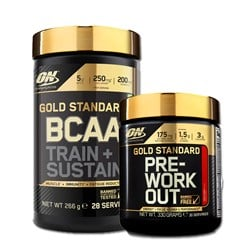Gold Standard Pre-Workout + BCAA Train+Sustain - 330g+266g