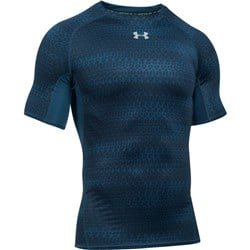 HeatGear Armour Compression Printed Nave Blue