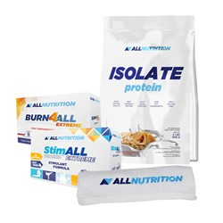 Isolate Protein+Burn4ALL Extreme+StimAll Extreme+Ręcznik - 908g+120caps+40caps+1szt