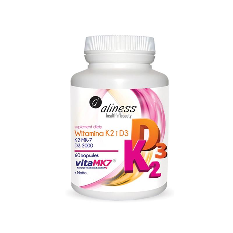 Medicaline K2 MK-7 100 µg z Natto + D3
