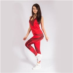 Karma Leggings Red Energy + Tank Top Loose