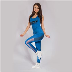 Karma T-shirt Cropped + Leggings Blue Blanace