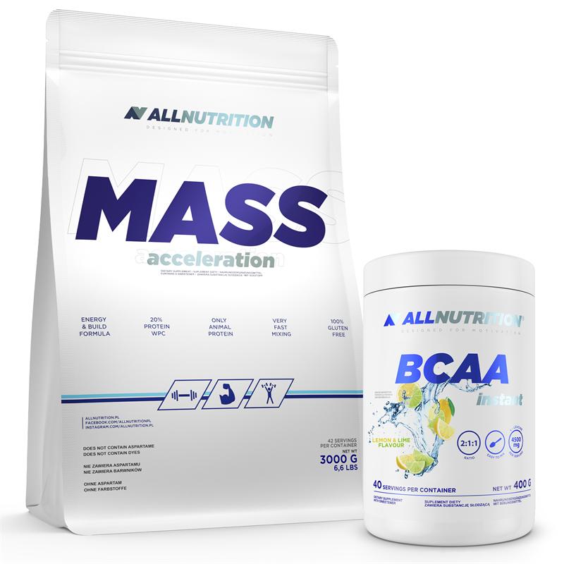 ALLNUTRITION Mass Acceleration 3000g + BCAA Instant 400g