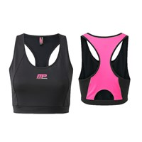 MusclePharm MPLTOP430 - CROP TOP BLACK PINK