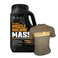 Muscle Machine Mass + T-shirt - 2250g+1szt
