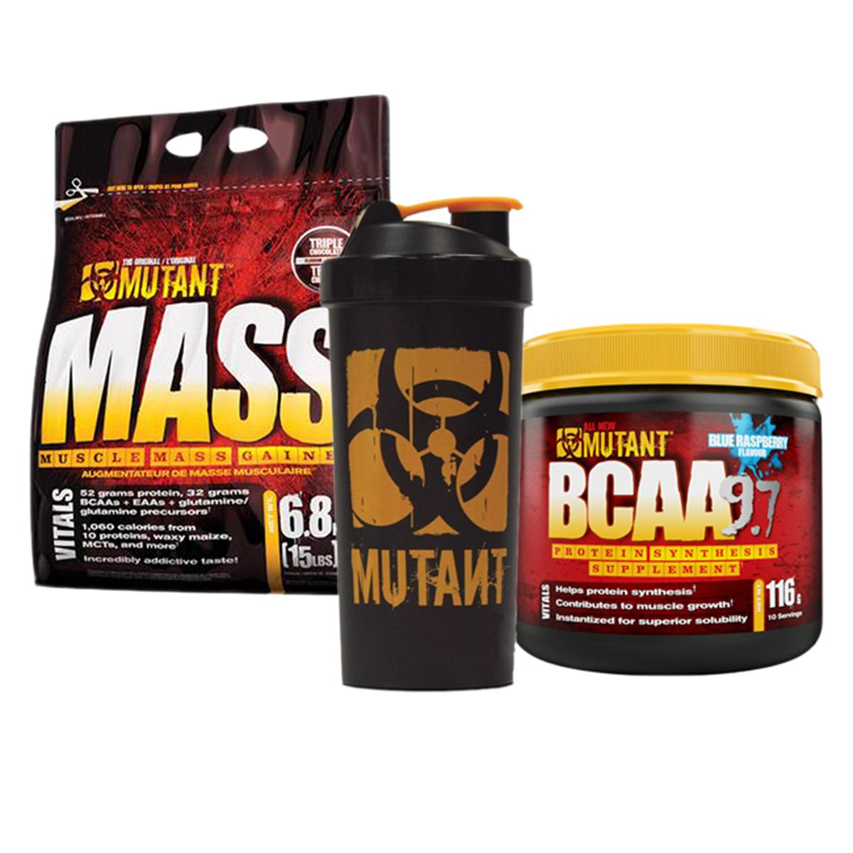 13347ee71b2b 209 PLN • Mutant Mass + Mutant BCAA 9.7 + Shaker 6800g+116g+1szt ...