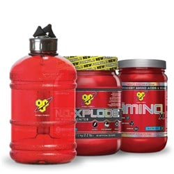 N.O.-Xplode 3.0 + Amino X + Water Bottle - 1000g+435g+1szt