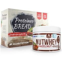 Nutwhey Hazuelnut Choco 500g + Proteineo Bread 110g GRATIS