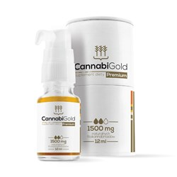 Olejek CBD CannabiGold Premium 1500 mg - 12ml