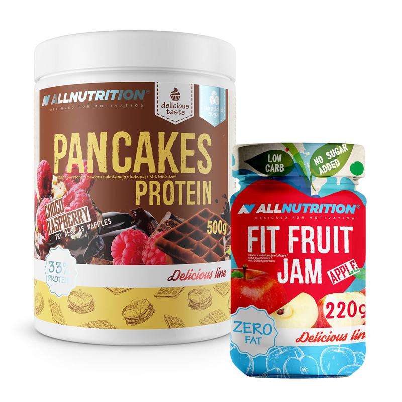 ALLNUTRITION Pancakes Protein 500g + Fit Fruit Jam 220g