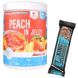 Peach in Jelly 1000g + F**king Delicious Protein Bar 55g GRATIS