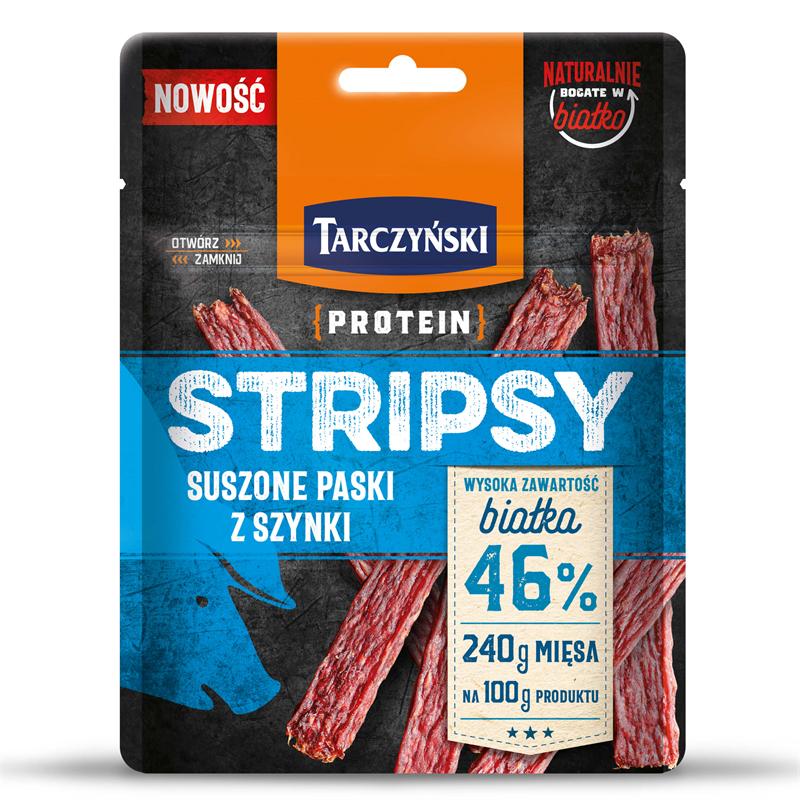 Protein Stripsy Suszone paski z szynki
