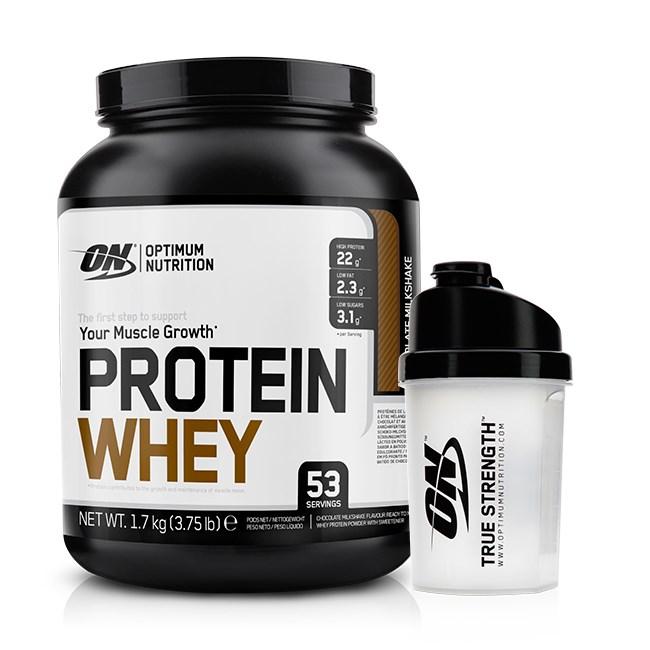Protein Shaker Optimum Nutrition: 144 PLN • Protein Whey + Shaker 1700g+1szt