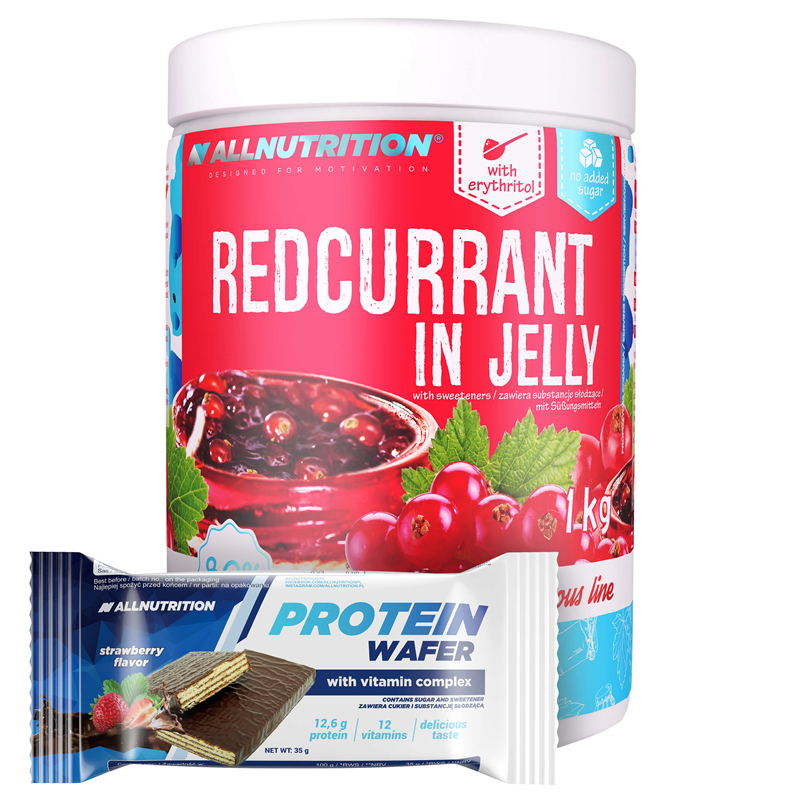 ALLNUTRITION Redcurrant in Jelly 1000g + Protein Wafer 35g