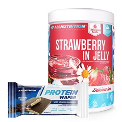 Strawberry In Jelly 1000g + Protein Wafer 35g GRATIS
