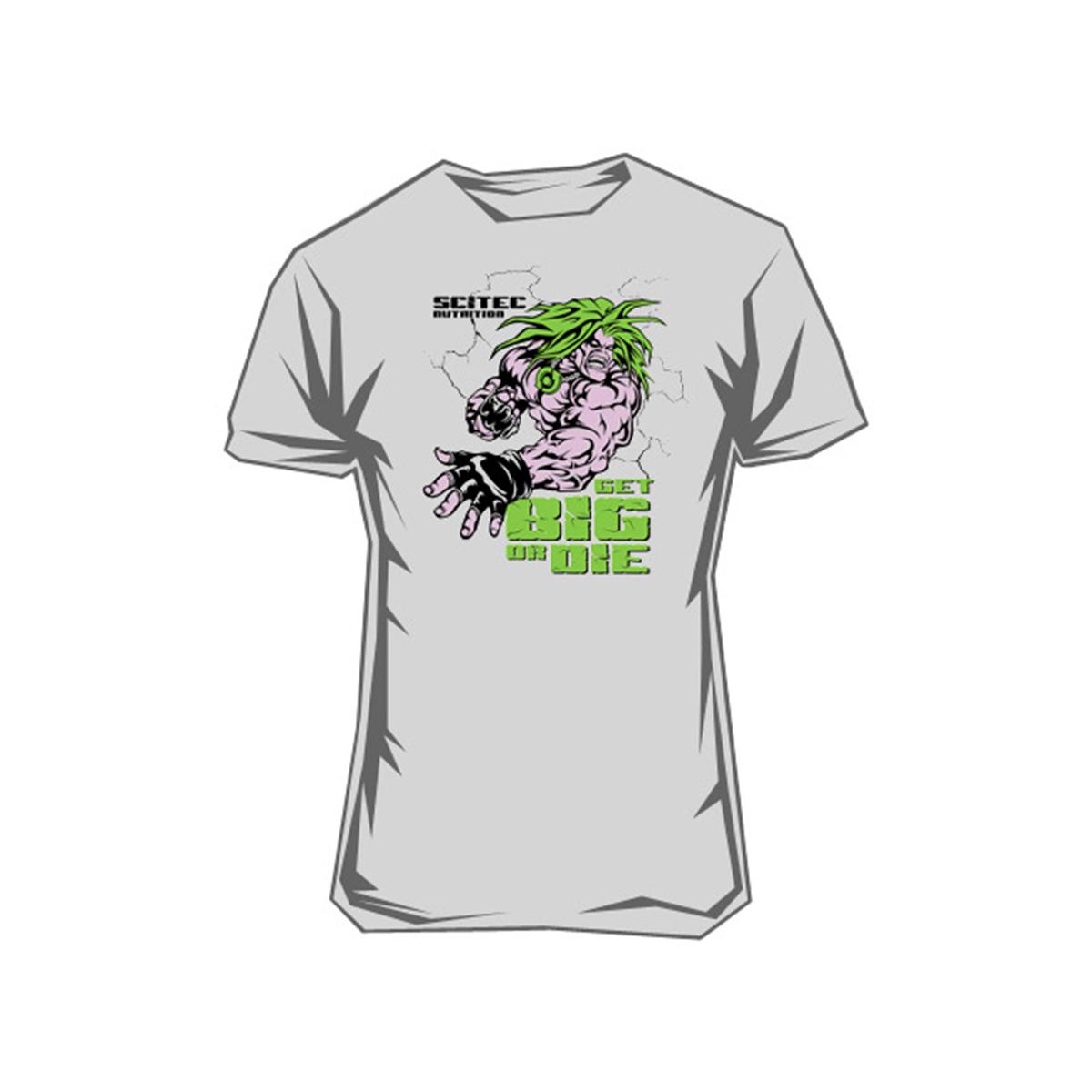 39 pln � tshirt get big or die 1szt scitec nutrition