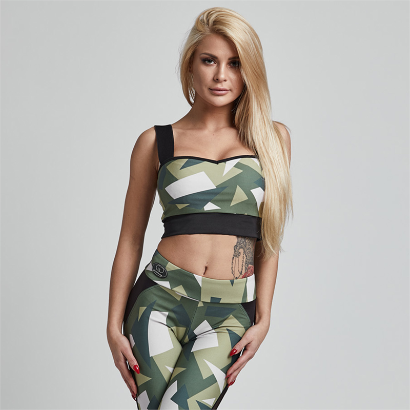 Gym Provocateur TOP BRAVE MILITARY GREEN