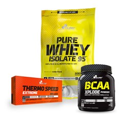 Thermo Speed Extreme+Pure Whey Isolate 95+BCAA Xplode - 120caps+600g+500g