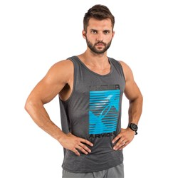 UA Turned Up Tank Dark Grey - 1szt