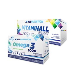 Vitaminall Sport + Omega 3 1000 - 60caps+60softgels