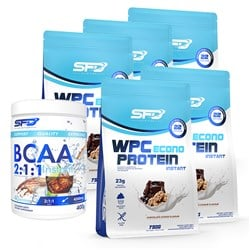 WPC Protein Econo + BCAA 2:1:1 Instant - 5x750g+400