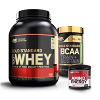 Whey Gold Standard 100%+BCAA Train + Sustain+Amino Trial Size