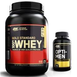 Whey Gold Standard 100% 908g + Opti-Men 90tab