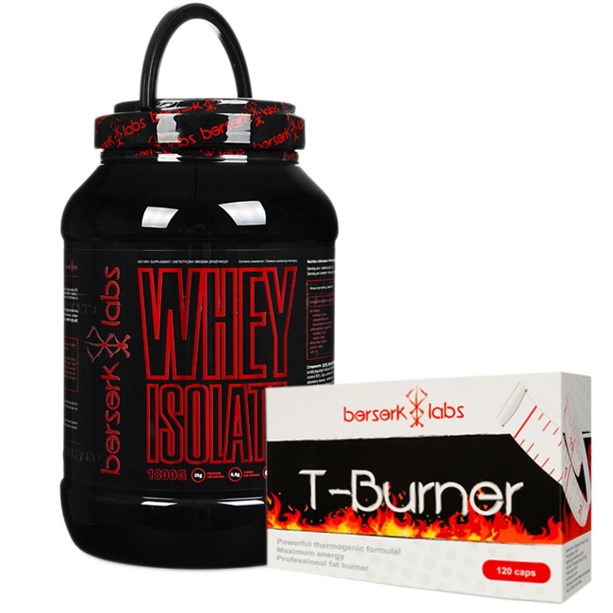 10dadf7cba92 169 PLN • Whey Isolate + T-Burner 1800g+120kaps - Berserk Labs ...