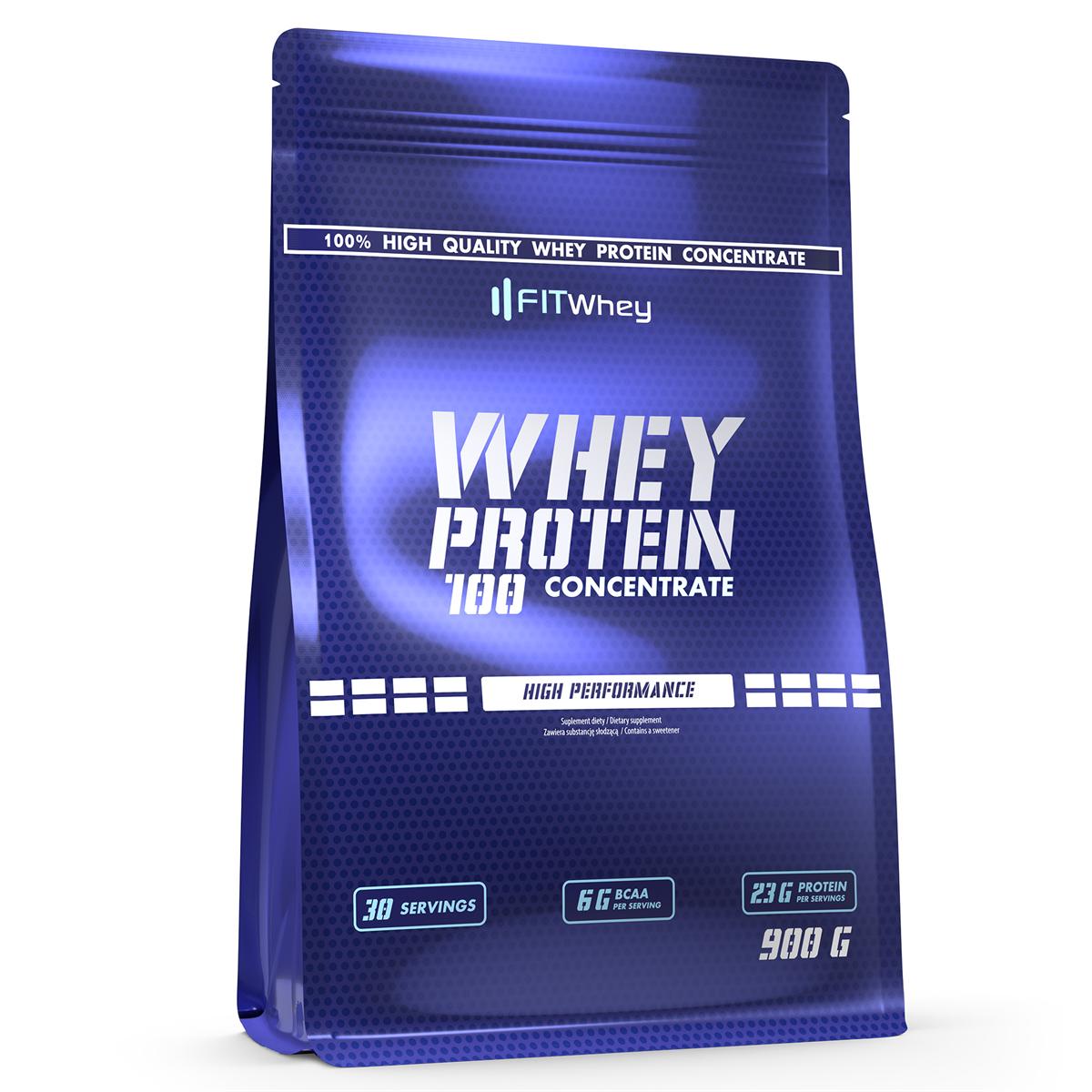 9d547318cc5a 49 PLN • Whey Protein 100 Concentrate 900g - FitWhey • NAJTANIEJ ...