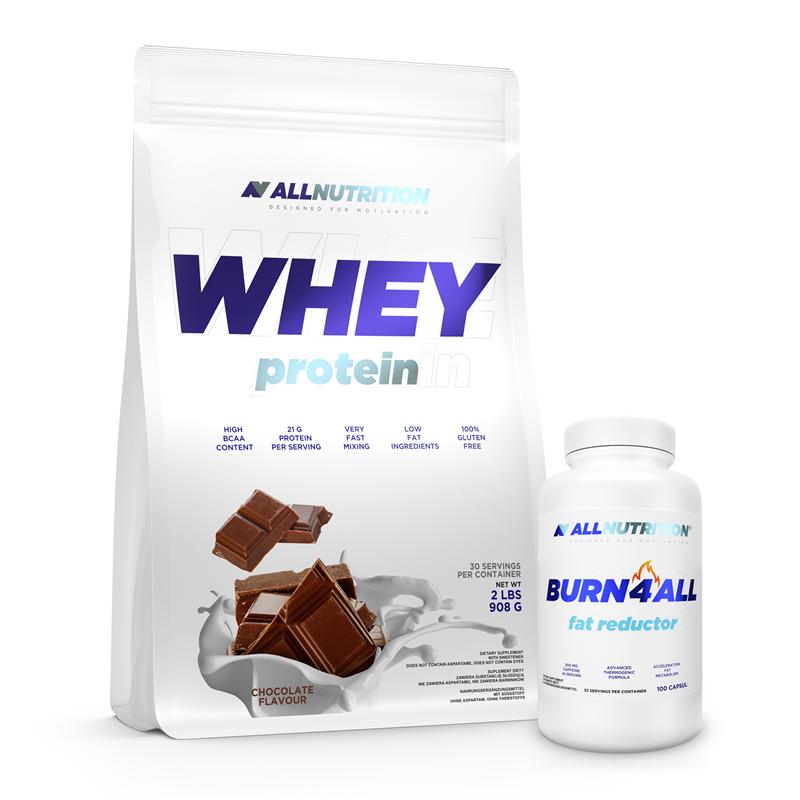 ALLNUTRITION Whey Protein 908g + Burn4ALL 100caps