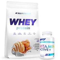 Whey Protein 908g + Vitamin Active 60caps GRATIS